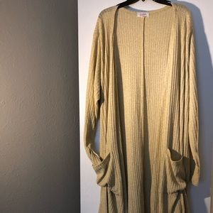 LuLaRoe NWOT Gold Striped Cardigan